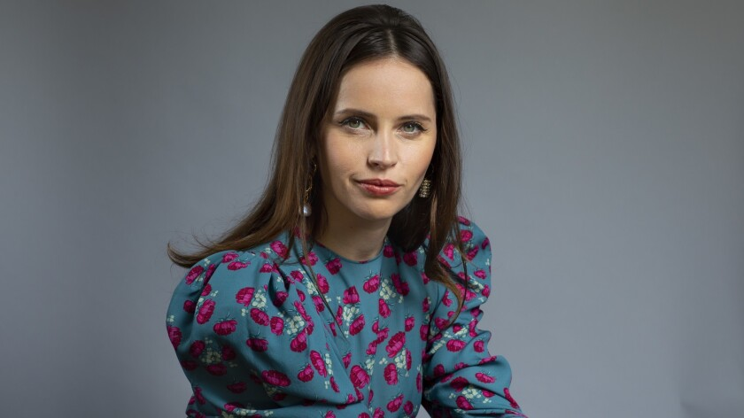 LOS ANGELES, CA --NOVEMBER 02, 2018 --Actress Felicity Jones is photographed during a day of promoti