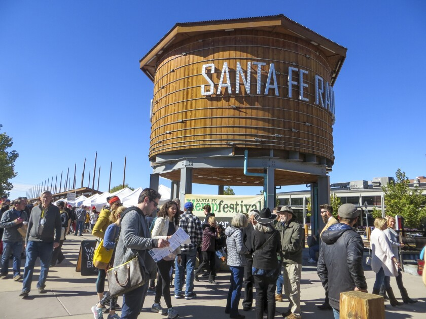 The Saturday Farmer's Market in Santa Fe's Railyard District draws a big crowd.