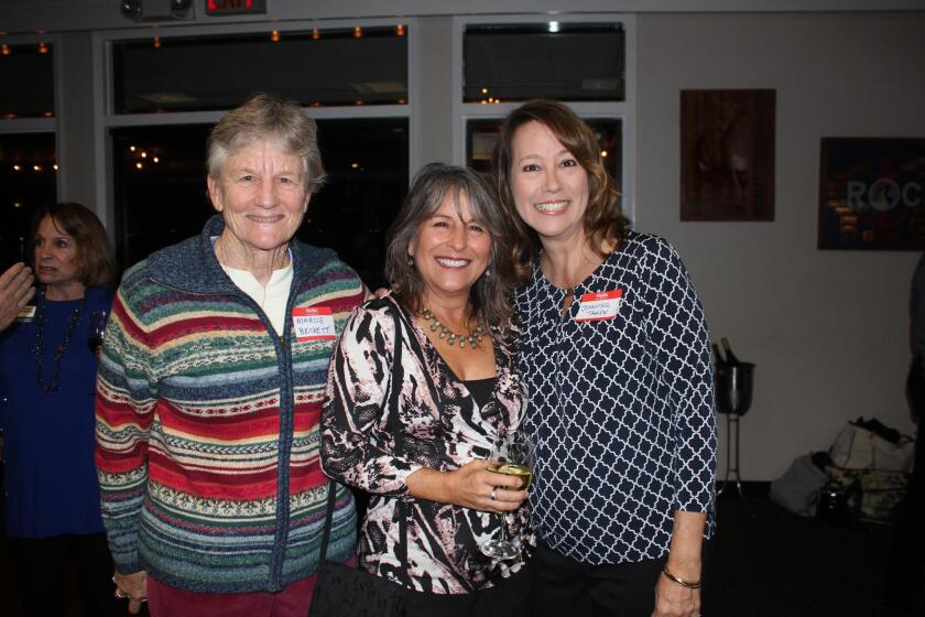 Marcie Beckett, former District 2 City Council member Lorie Zapf, and past San Diego Unified School District Mission Bay Cluster chair Jennifer Tandy