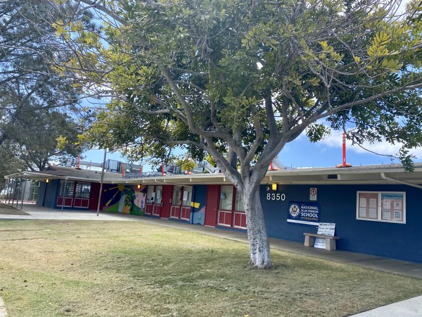 Torrey Pines Elementary is one of five La Jolla cluster schools preparing to begin the new school year online Aug. 31.