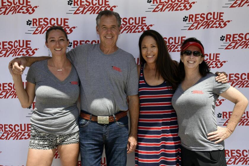 Rescue Express Volunteer Coordinator Emily Brand, Host Mike McCarthy, Executive Director Karen Moy, Director of Operations Danielle Soto. Visit www.rescueexpress.org