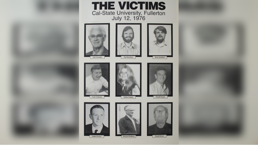 The nine victims of the 1976 shooting. Seven were killed. Maynard Hoffman and Donald Keram were injured during the mass shooting.