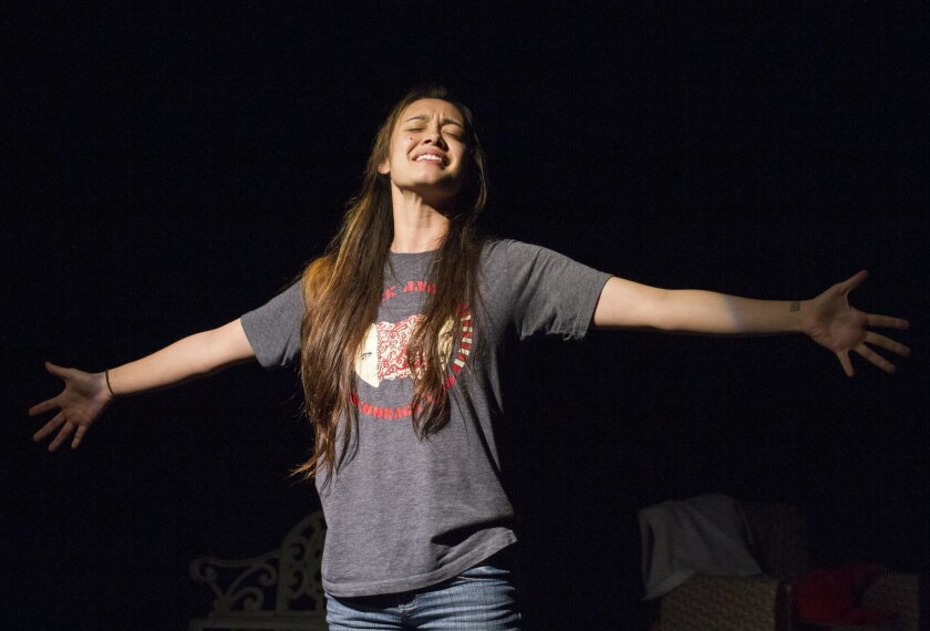 "Jennifer Paredes as September in the 2015 one-act version of ""September and her Sisters,"" which is returning to the Out on a Limb festival of new plays."