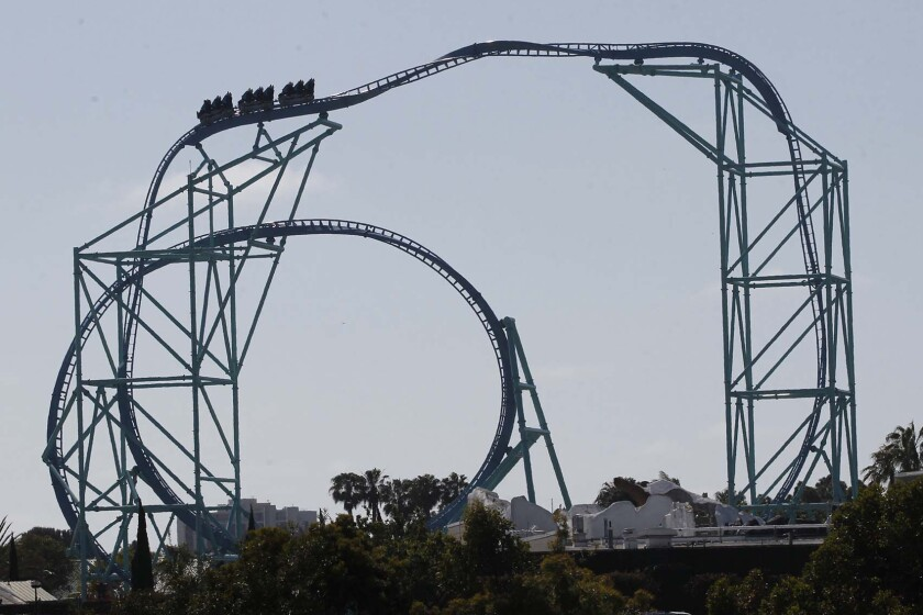 Electric Eel is one of SeaWorld San Diego's newer coasters, having debuted last year. Tidal Twister is the park's newest, and a third roller coaster is planned for next year.
