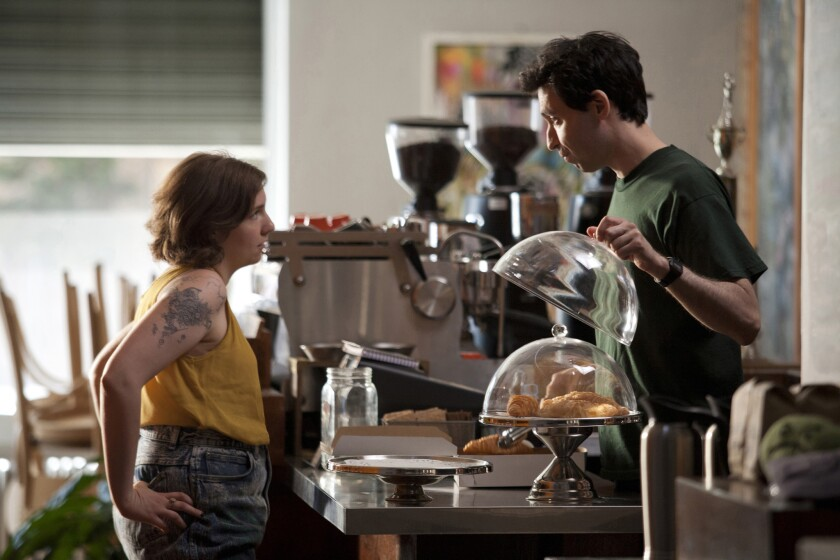 "Millennials are the most financially conservative generation since the Great Depression, according to a survey. Here, a coffee shop scene from the HBO series ""Girls."""