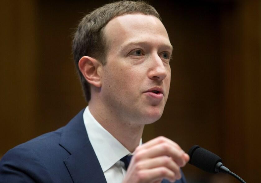 CEO de  Facebook Mark Zuckerberg