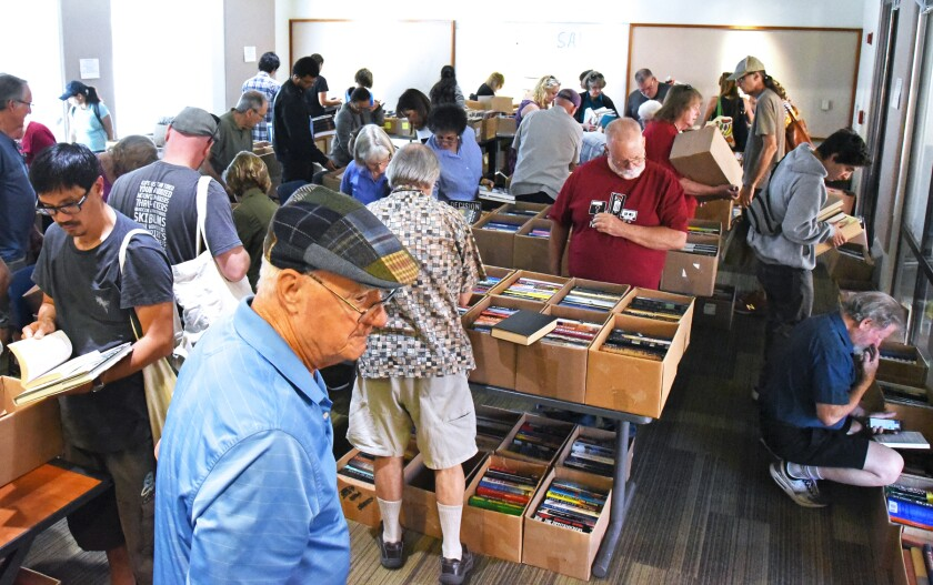 Friends of the Poway Library Book Sale, held Oct. 19 and 20, 2019.