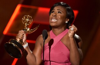 Tearful Uzo Aduba delivers emotional acceptance speech | Emmys 2015