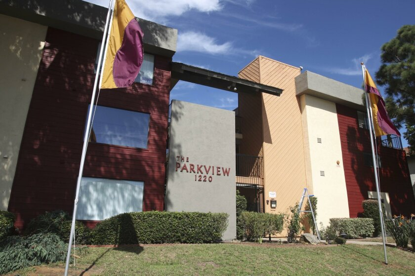 The Parkview apartments in Hillcrest in October 2015.