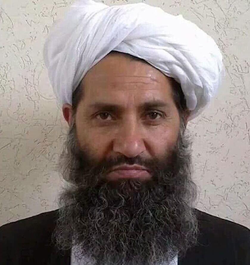 Mawlawi Haibatullah Akhundzada in an undated photo.