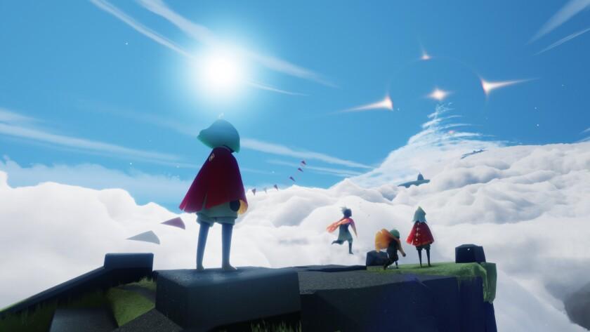 Capture d'écran du jeu «Sky» de Thatgamecompany basé à Santa Monica.