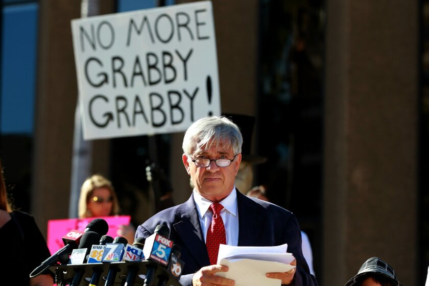 Mike Pallamary who is heading up a petition to recall San Diego Mayor Bob Filner held a press conference downtown Monday.