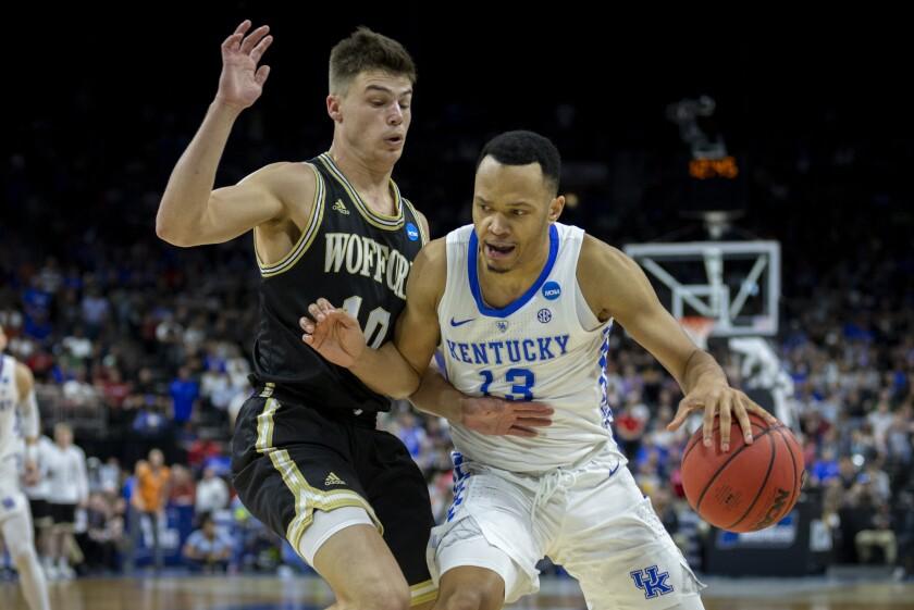 APphoto_NCAA Wofford Kentucky Basketball