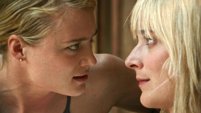 "Mackenzie Davis as Anna and Caitlin FitzGerald as Beth in ""Always Shine."""