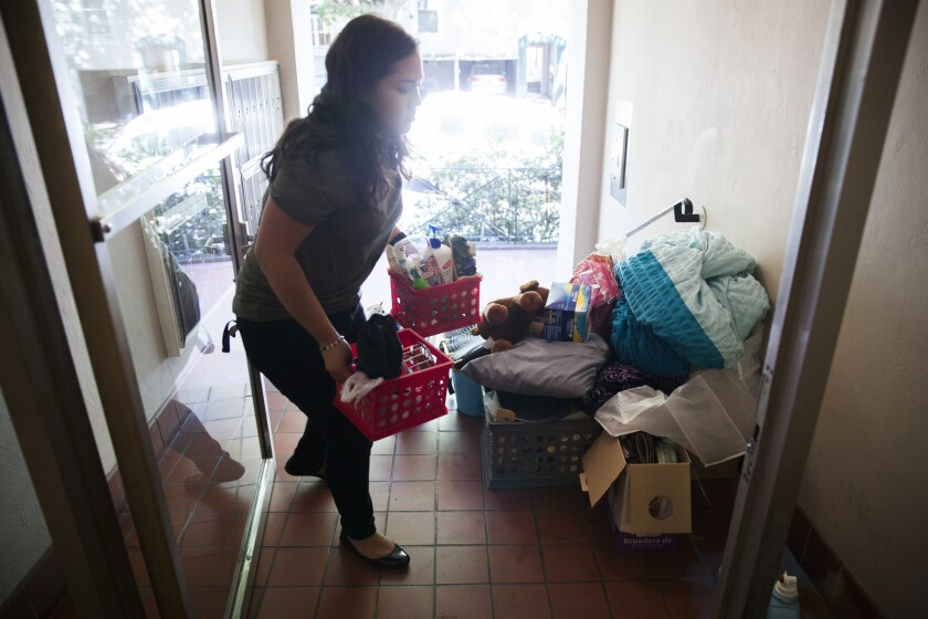UC Berkeley student Veronica Barron is moving into an apartment off campus after spending her first year in a campus dorm.