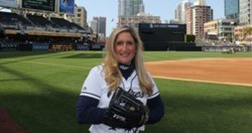 Nina Detrow has been a Padres ball girl for 15 seasons.