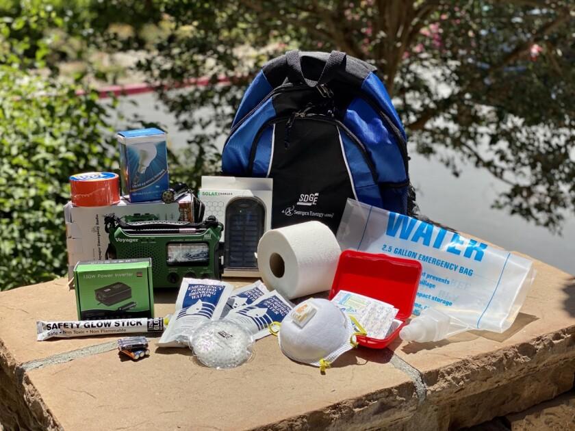 SDG&E emergency kit backpack