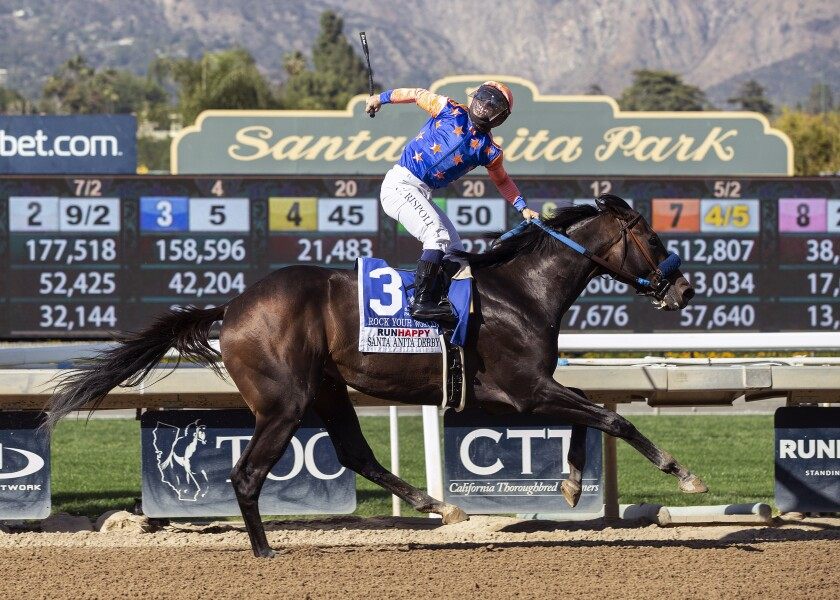 Trainer John Sadler will decide today whether Rock Your World will run in Saturday's Pacific Classic.