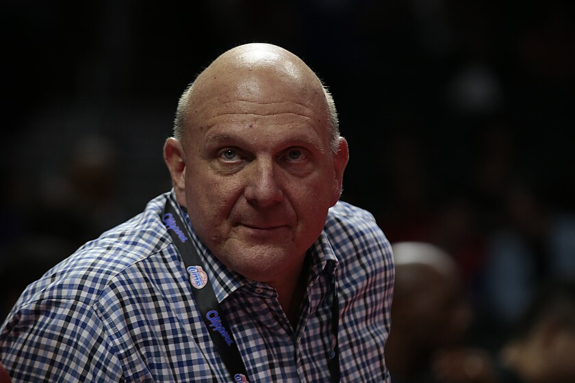 Owner Steve Ballmer is taking charge of the Clippers and the results are showing.