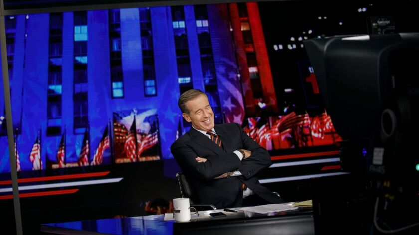 "NEW YORK, N.Y. -- WEDNESDAY, OCTOBER 17, 2018: Brian Williams taping his show, ""The 11th Hour with B"