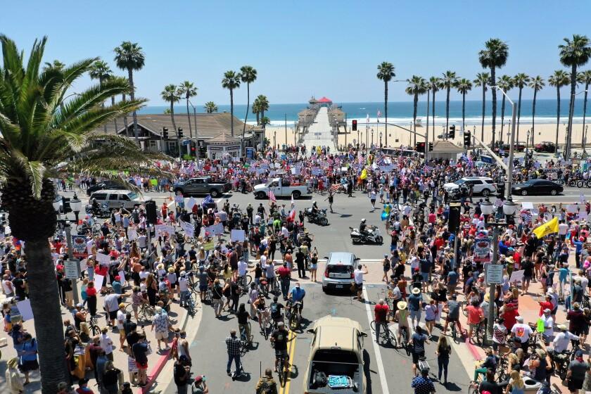 Beach protest