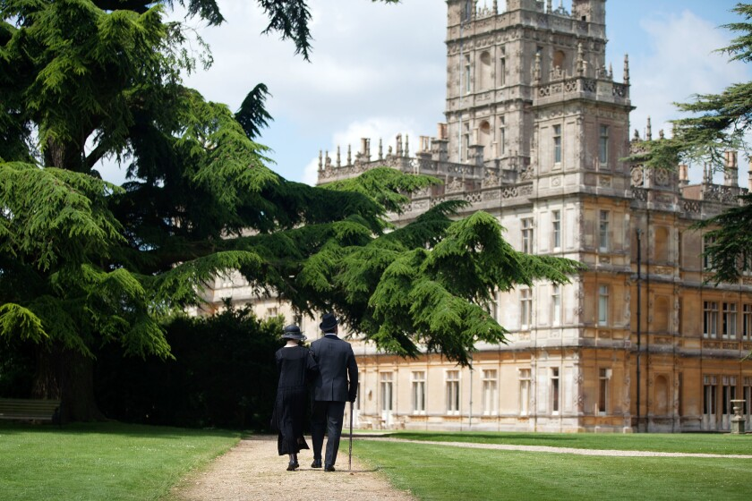 Highclere Castle, 45 miles west of central London, is better known to many as Downton Abbey, the setting of the popular PBS series that ended in 2016.