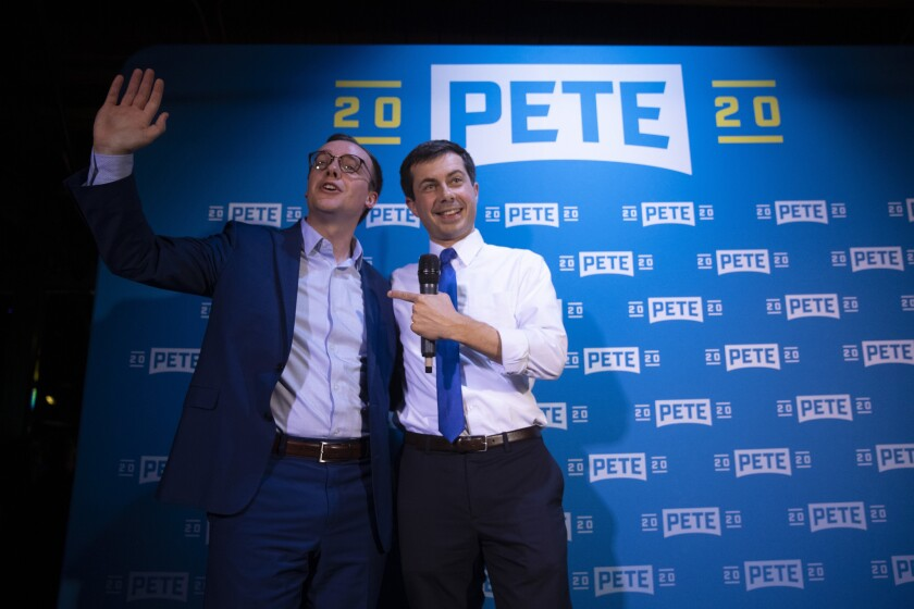 Pete Buttigieg and husband Chasten Glezman.