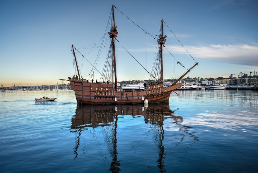 The replica of the San Salvador, the 16th-century tall ship commanded by explorer Juan Rodríguez Cabrillo, will be open to visitors over Labor Day weekend at the Maritime Museum of San Diego.