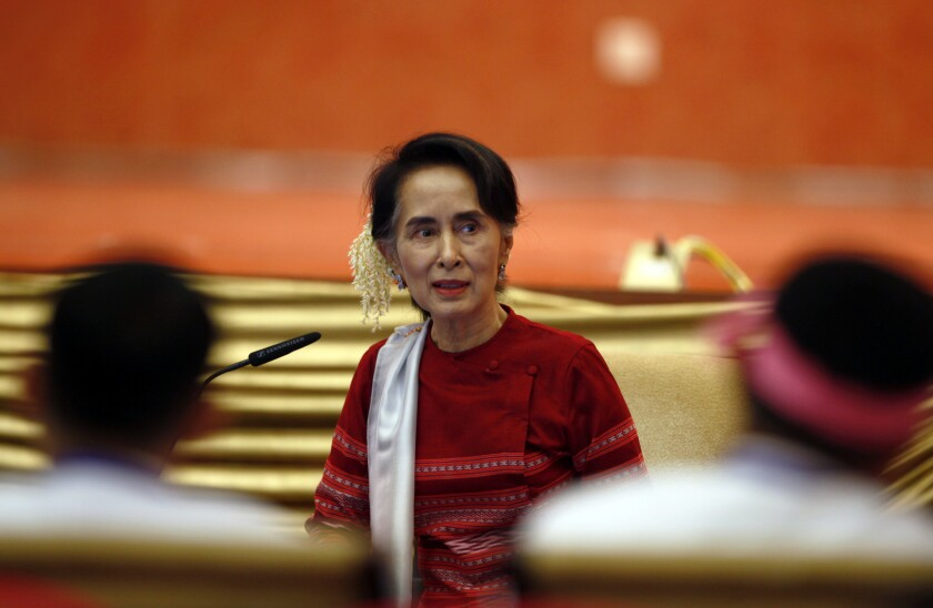 Aung San Suu Kyi, leader of Myanmar's government, is under growing pressure to end violence against the Rohingya Muslim minority.