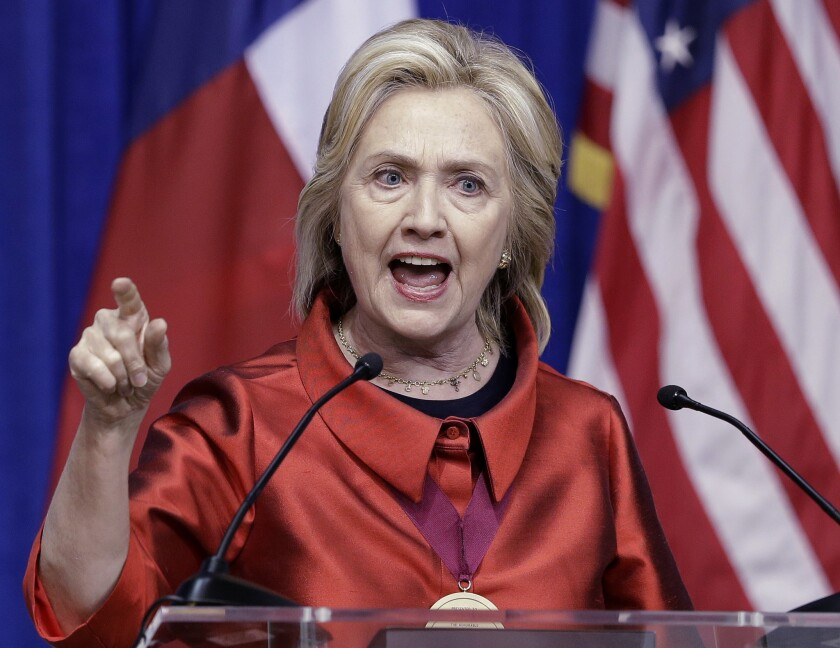Democratic presidential candidate Hillary Rodham Clinton sharply criticized Republicans on the issue of voting rights in a speech at Texas Southern University in Houston on Thursday. She called for a system of automatic, universal voter registration.