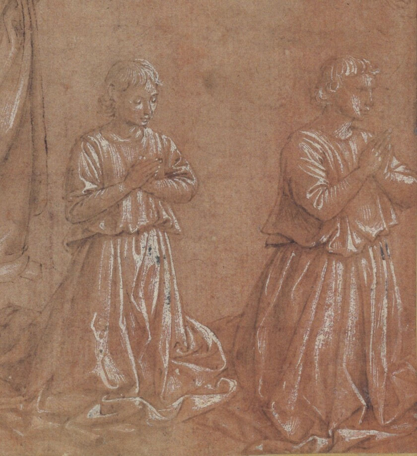 Benozzo Gozzoli, Studies of Angels for Adoration of the Magi (detail), 1459-63 ©The Trustees of the British Museum
