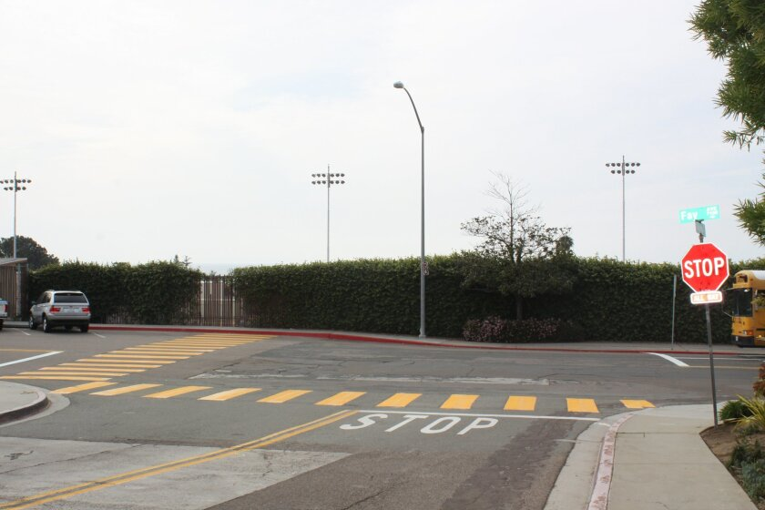 An all-way stop sign and crosswalks were installed on Fay Avenue at West Muirlands in early February. Ashley Mackin