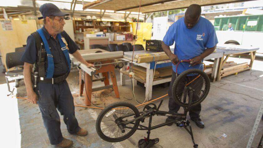 Father Joe's bike repairs
