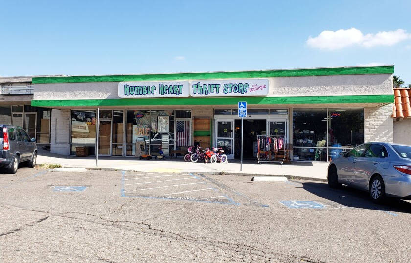 Humble Heart Thrift Store is one of two thrift stores remaining in Carriage Center.