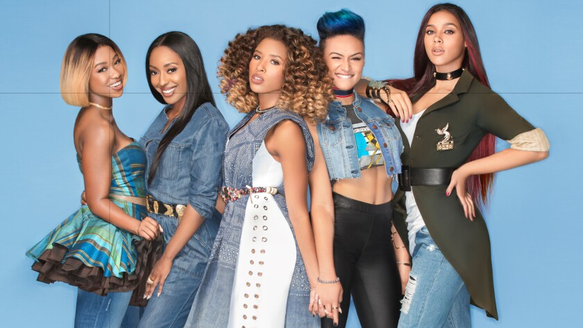 Kelly Rowland's new all-female group landed a label deal before the singer even picked them. From left: Shyann Roberts, Ashly Williams, Brienna DeVlugt, Gabrielle Carreiro and Kristal Lyndriette.