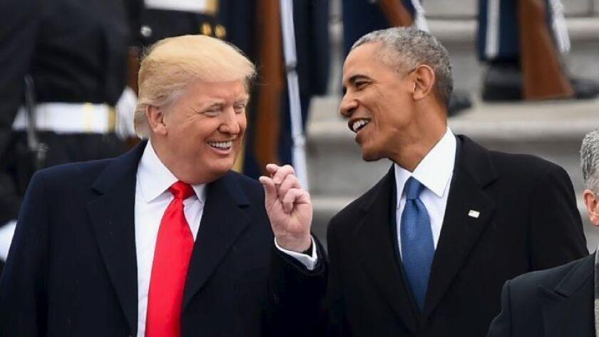 President Trump and former President Obama