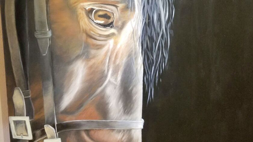 Works by equine artist Sarah Richter