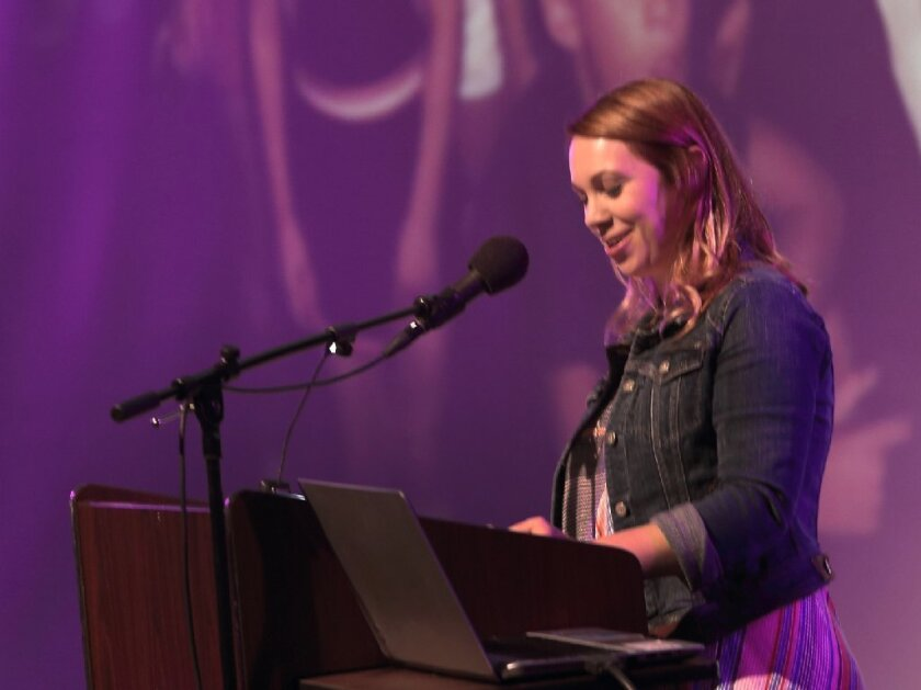 Author Suzanne Young was the keynote speaker at Canyon Crest Academy's 2016 Writers' Conference. Photo by Jon Clark
