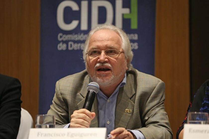 El presidente de la Comisión Interamericana de Derechos Humanos (CIDH), Francisco José Eguiguren Praeli. EFE/Archivo