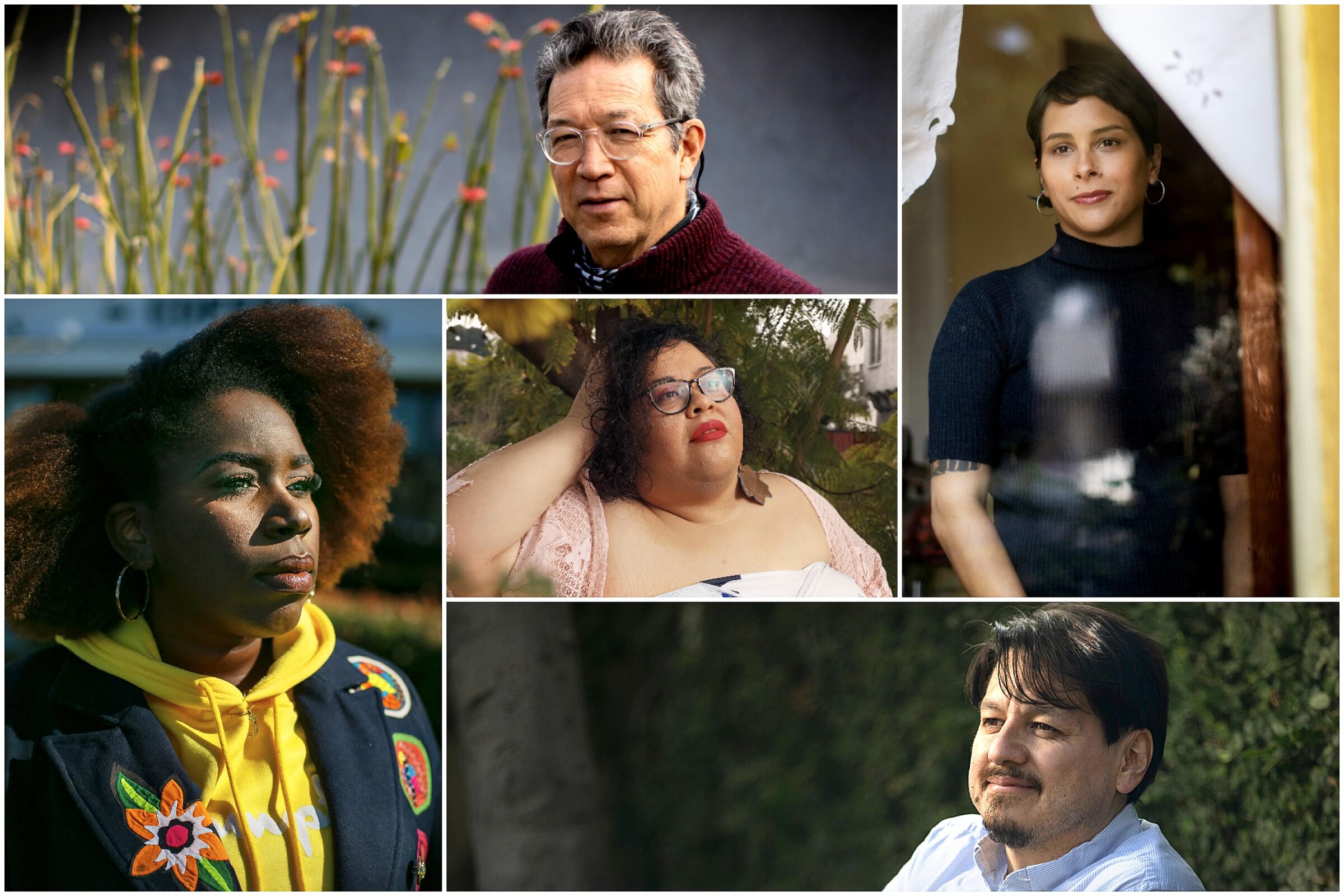 Sesshu Foster, Megan Dorame, William Archila, Yesika Salgado, and Jenise Miller.