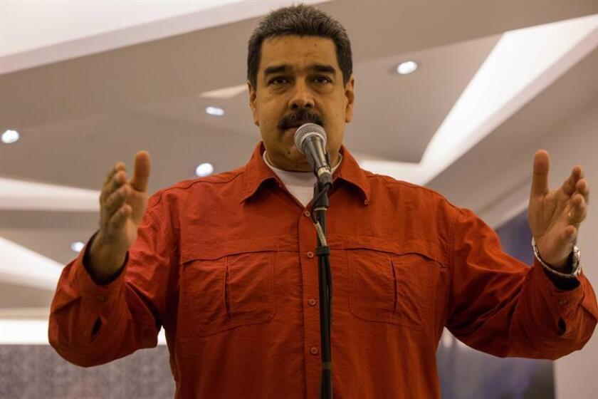 El presidente de Venezuela, Nicolas Maduro, habla en un evento político. EFE/Archivo