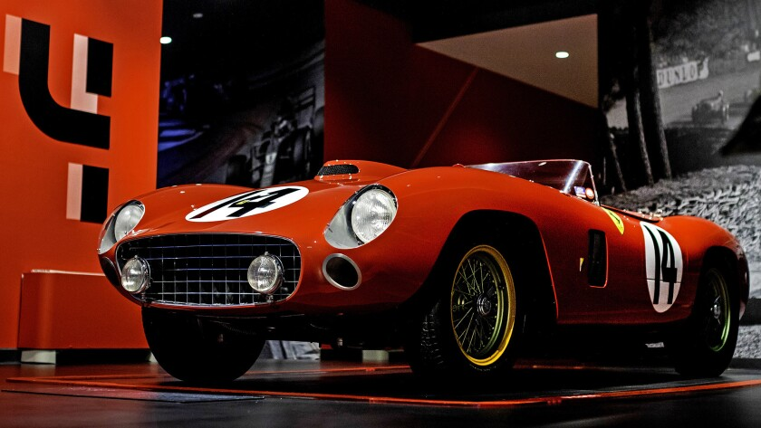 This rare 1956 Ferrari 290 MM is expected to fetch $26 million when it crosses RM Sotheby's auction block at the Petersen Automotive Museum in December.