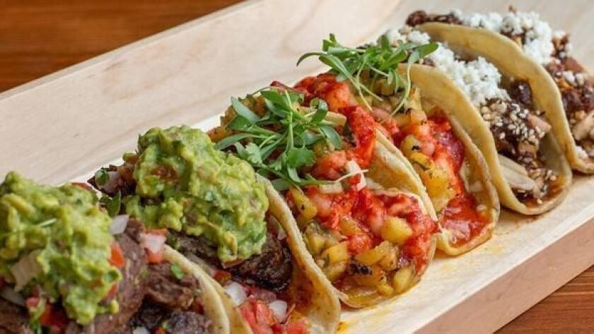 The Blind Burro is a Mexican food paradise. Find Baja-style tacos with lobster, pollo, carne asada and more, plus guacamole, ceviche and nachos for game day grub. Finish it off with a refreshing Burro margarita. Price: $$ Distance from Petco Park: 0.2 miles 639 J St., East Village. theblindburro.com