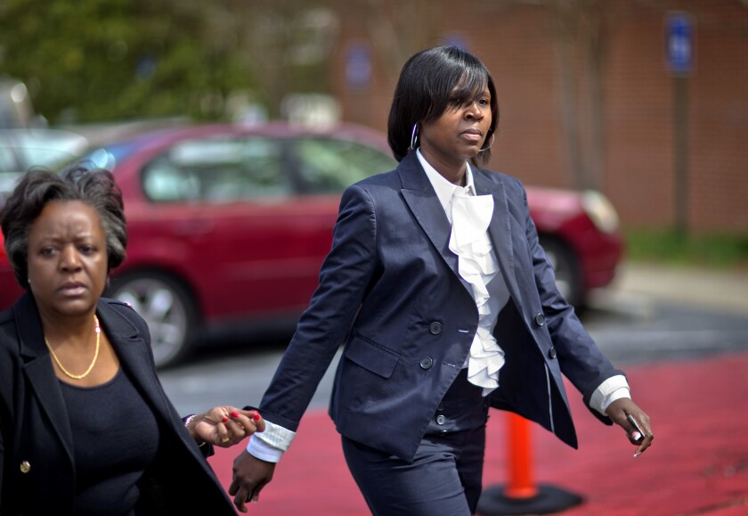 "The Atlanta cheating scandal illustrates the dangers of the modern infatuation with incentives and what's called ""pay for performance."" Above: Atlanta Public Schools defendant Sandra Ward, right, turns herself in at the Fulton County Jail accompanied by her attorney Robbin Shipp, left, on April 2 in Atlanta."
