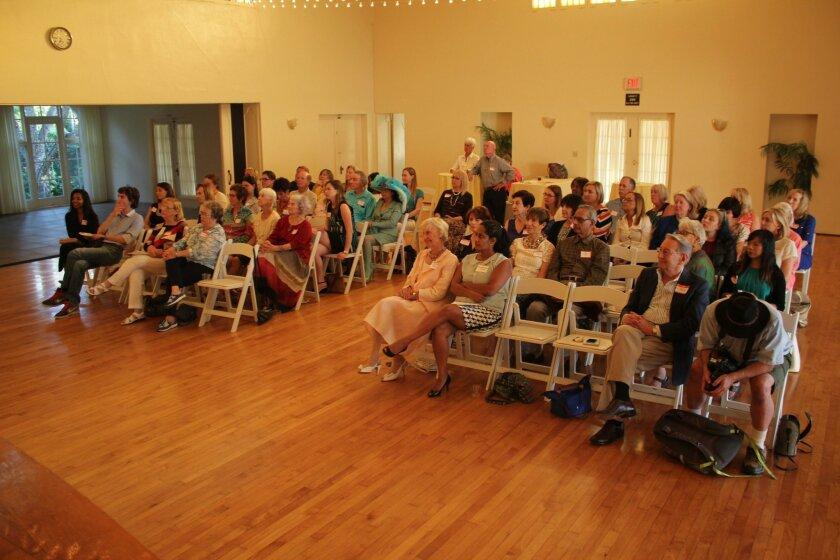Audience members listen to featured presenter Martha Dennis at the La Jolla Woman's Club 'Women in Leadership' speaker series Aug. 18.
