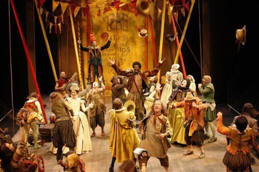"""In this theater publicity image released by Stratford Shakespeare Festival, members of the company perform in the Stratford Shakespeare Festival�s 2009 production of """"Bartholomew Fair,"""" in Stratford, Ontario, running in rep at the Tom Patterson Theatre through Oct. 2. (AP Photo/Stratford Shakespeare, David Hou)"""