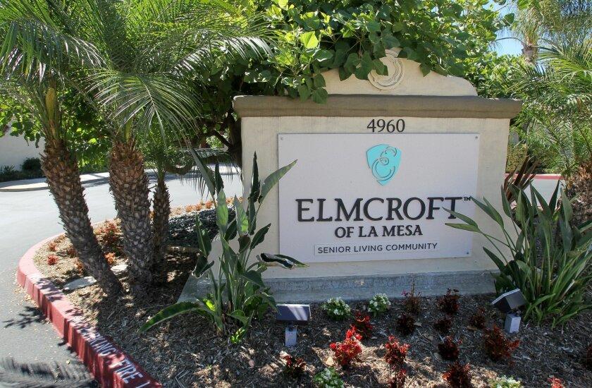 Elmcroft of La Mesa's entrance sign.