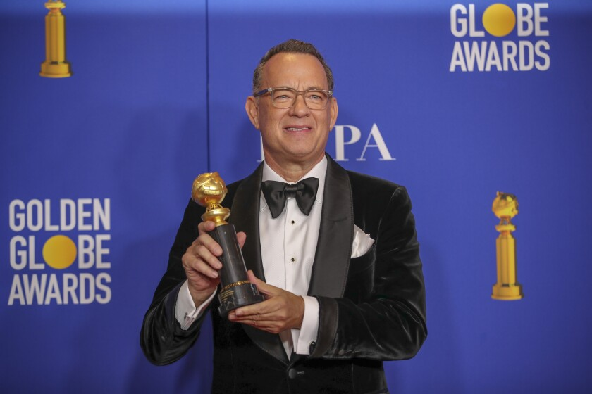 "Tom Hanks is nominated in the supporting actor category for his role in ""A Beautiful Day in the Neighborhood."""