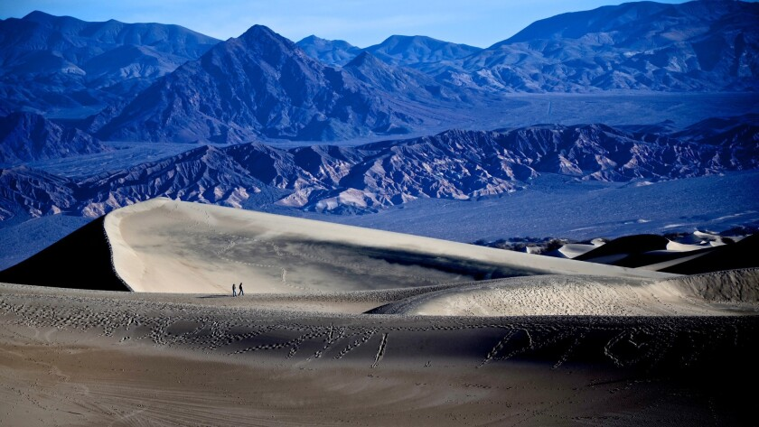 Mesquite Flats Sand Dunes in Death Valley National Park