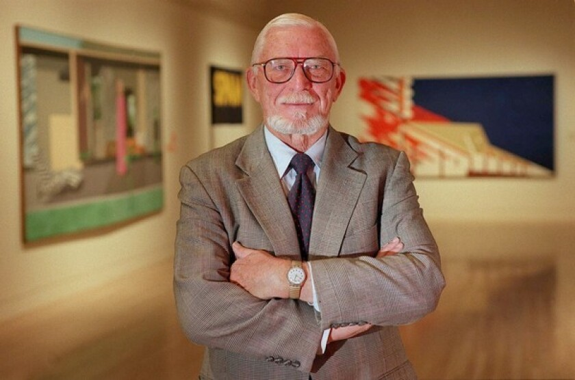 Henry Hopkins directed the San Francisco Museum of Modern Art before returning to UCLA, where he led the Wight Art Gallery and the Hammer Museum. The Idaho native had been painting most of his life and became entrenched in the L.A. art world after moving here in 1957.